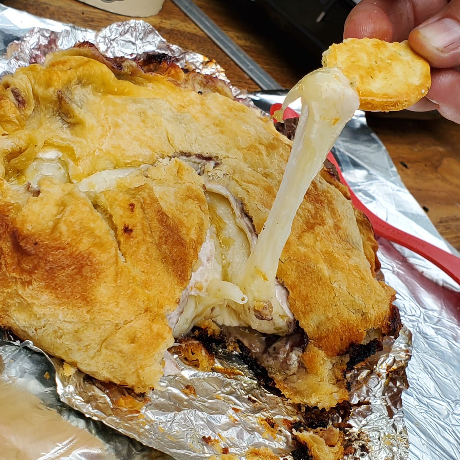 Camping Baked Brie