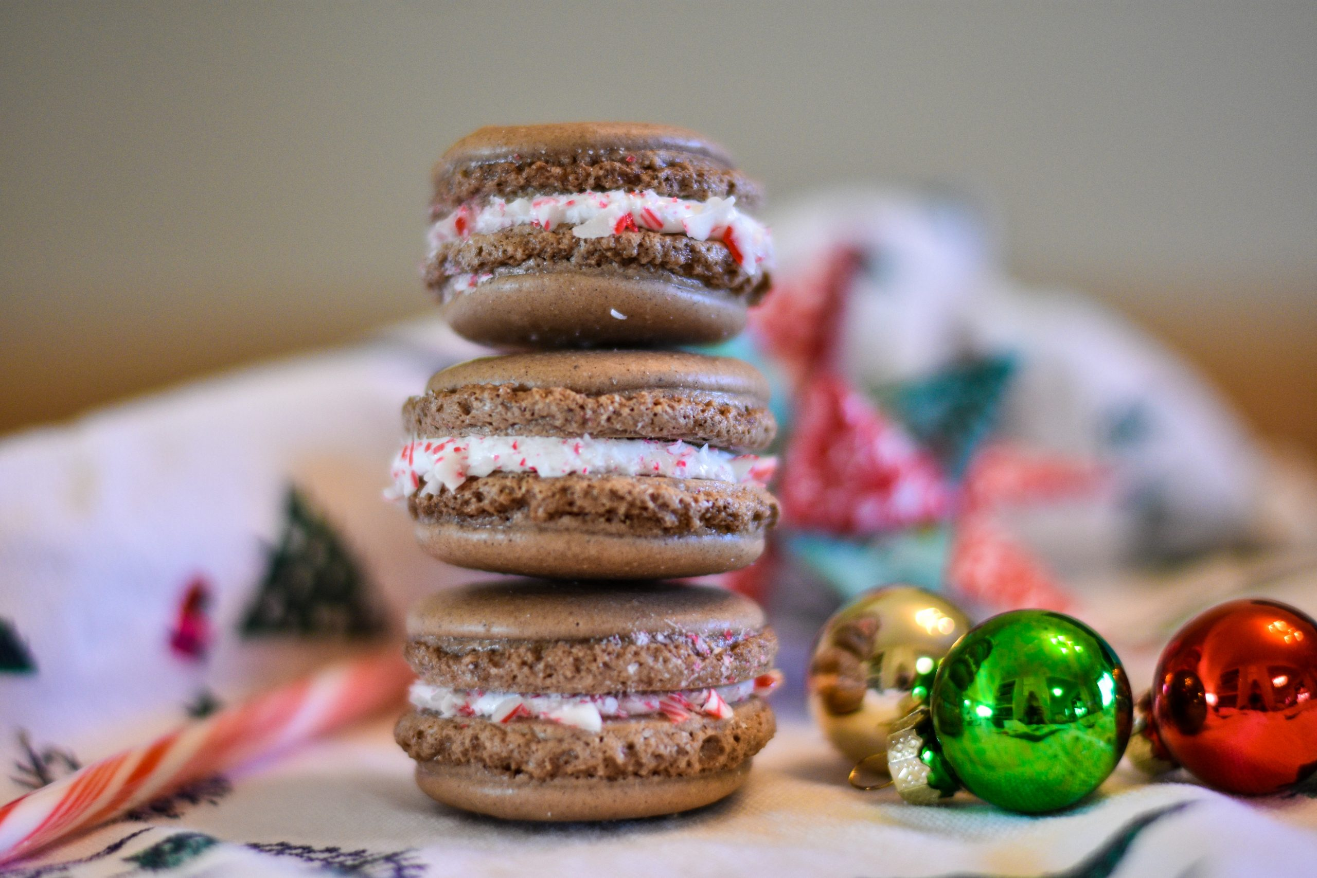 Peppermint Hot Cocoa Macarons